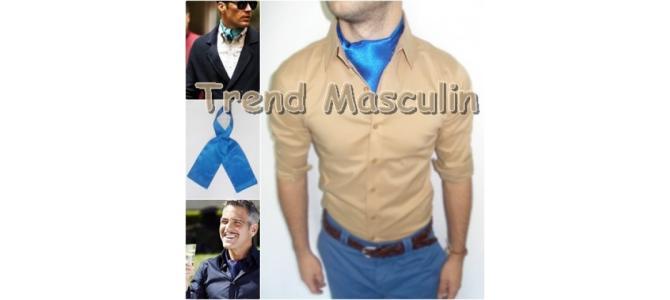Cravata Ascot Fashion Albastra