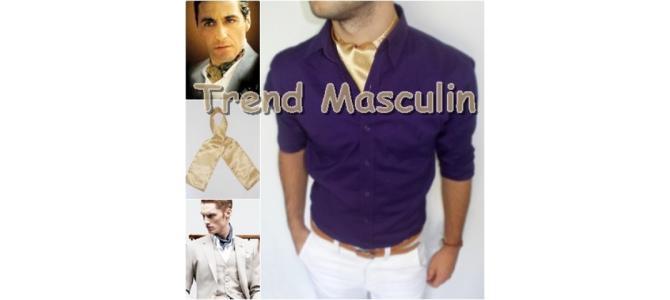 Cravata Ascot Fashion Bej