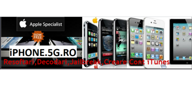 Reparatii iPhone, Decodari prin IMEI, Resoftare iPhone, Jailbreak iPhone, iPod, iPad, iMac, MacBook