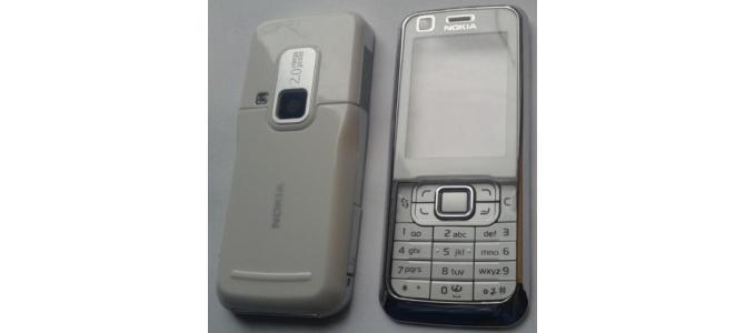 Carcasa Nokia 6120 Classic WHITE (ALBA) ORIGINALA COMPLETA