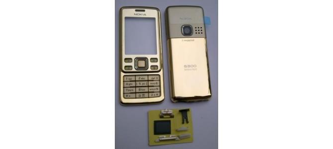 Carcasa Nokia 6300 Gold ( Aurie ) ORIGINALA COMPLETA