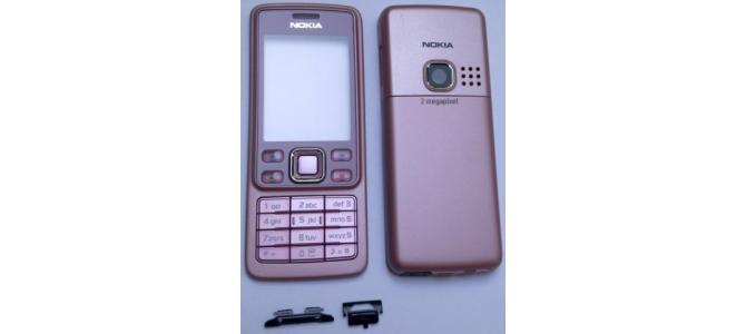 Carcasa Nokia 6300 Pink ( Roz ) ORIGINALA COMPLETA