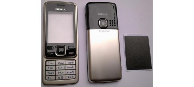 Carcasa Nokia 6300 Silver ( Argintie ) ORIGINALA COMPLETA