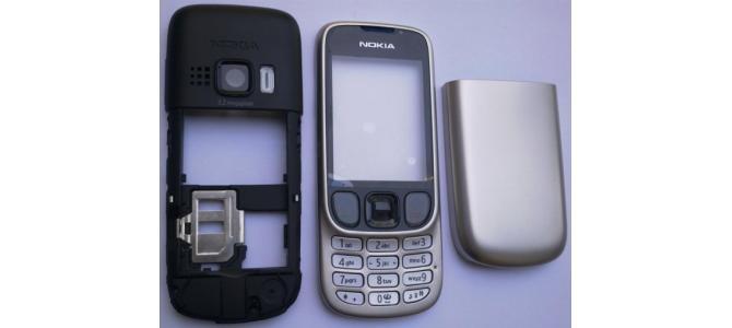 Carcasa Nokia 6303 Silver ( Argintie ) ORIGINALA COMPLETA
