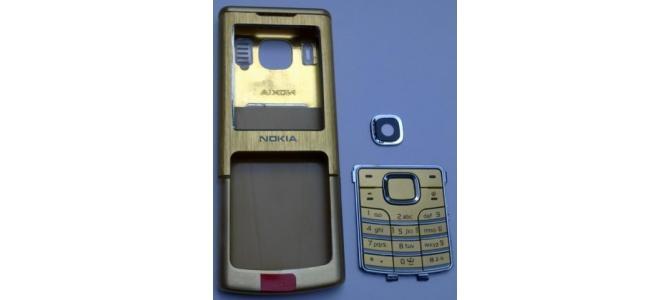 Carcasa Nokia 6500 Classic Gold ( Aurie ) ORIGINALA COMPLETA