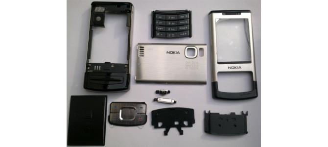 Carcasa Nokia 6500 Slide Silver ( Argintie ) ORIGINALA COMPLETA