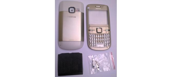 Carcasa Nokia C3 Gold ( Aurie ) ORIGINALA COMPLETA