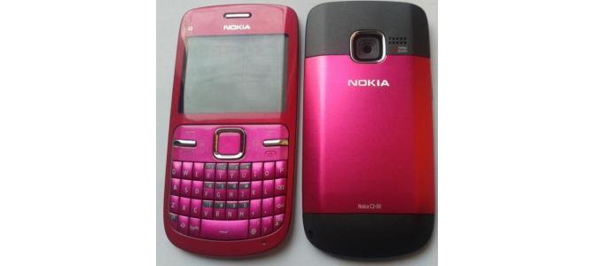 Carcasa Nokia C3 Pink ( Roz ) ORIGINALA COMPLETA