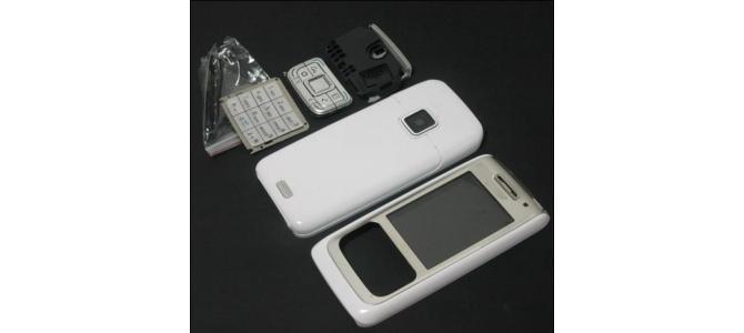 Carcasa Nokia E65 White ( Alba ) ORIGINALA COMPLETA