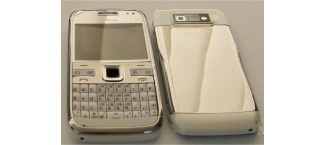 Carcasa Nokia E72 White ( Alba ) ORIGINALA COMPLETA