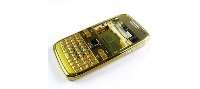 Carcasa Nokia E72 Gold ( Aurie ) ORIGINALA COMPLETA
