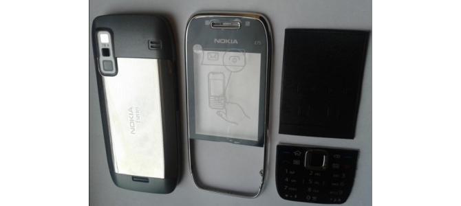 Carcasa Nokia E75 Grey ( Gri ) ORIGINALA COMPLETA