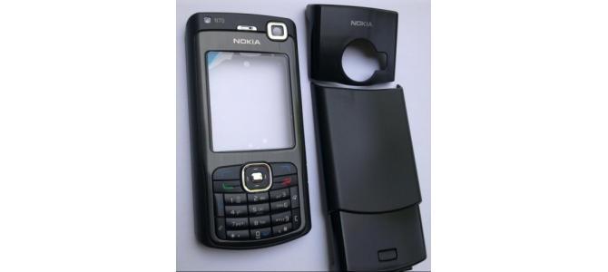 Carcasa Nokia N70 Black ( Neagra ) ORIGINALA COMPLETA