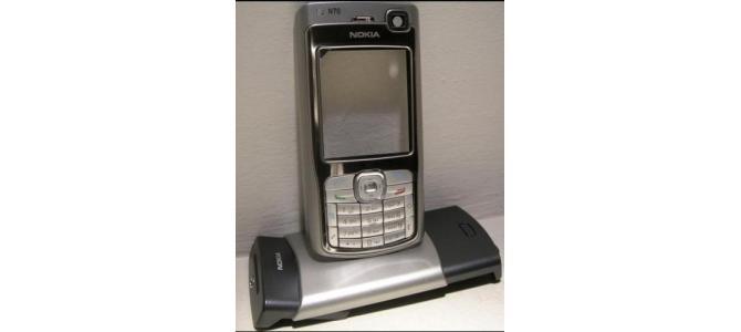 Carcasa Nokia N70 Silver ( Argintie ) ORIGINALA COMPLETA