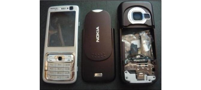 Carcasa Nokia N73 Silver ( Argintie ) ORIGINALA COMPLETA