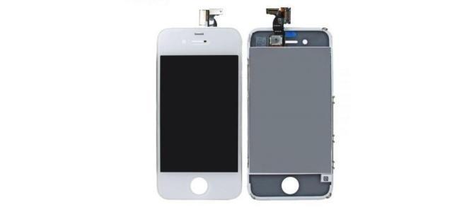 Display LCD cu TouchScreen Geam Iphone 4 White (ALB) Original Nou Sigilat