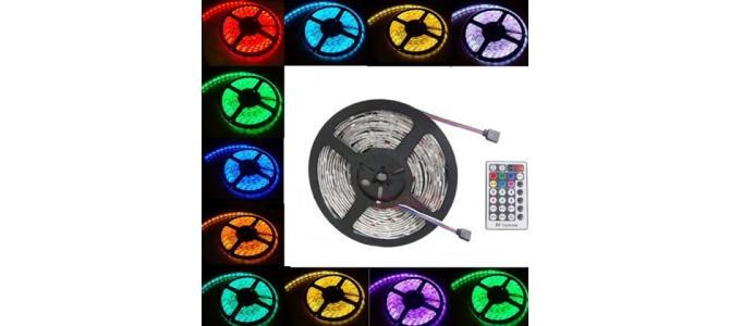 Banda LED multicolora, cu telecomanda