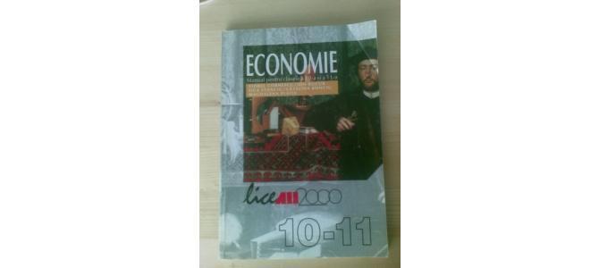 Vand Carte Manual ECONOMIE Clasa a 10 + 11 - a pt scoala