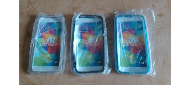 Husa silicon gel Samsung Galaxy S5-mini+folie+creion=15 Ron
