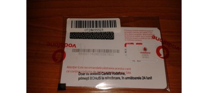 Cartela Vodafone cu nr, 2000 de orice