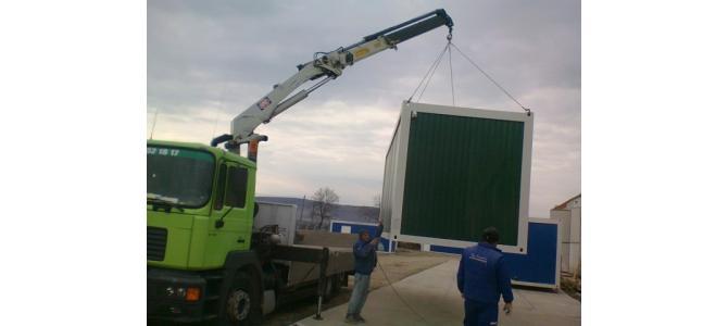 Mutari containere,lucrari cu macara si transport