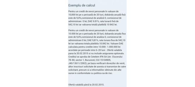 Credit cu rata fixa, comision 0%