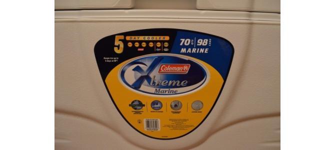 Lada Coleman 70-Quart Xtreme MARINE 5 days, NOUA, din USA