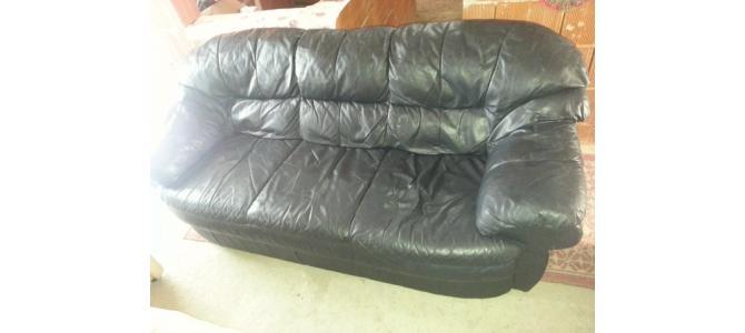 sofa piele naturala