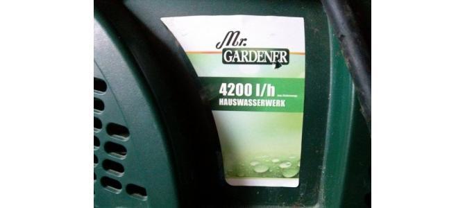 Pompa apa gardener