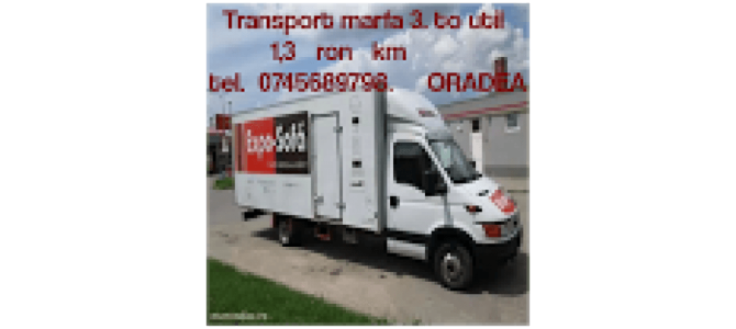 transport marfa 1,3 lei km