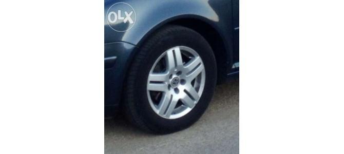 "Jante Aliaj 15"" originale VW 4 buc. + cauciucuri vara noi Michelin"