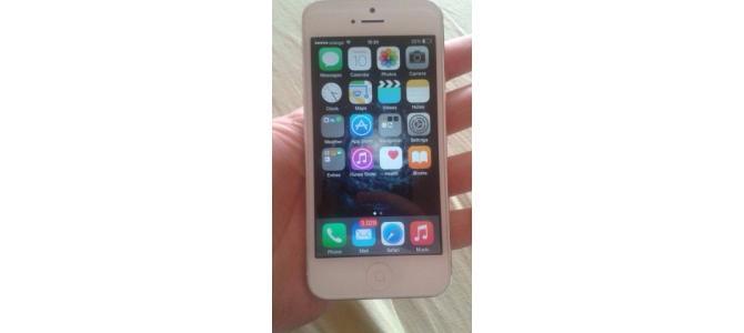 Vand iphone 5 16 gb white 1000 ron