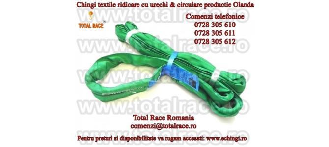Chinga textila poliester cu urechi EN 1492-1  echingi.ro