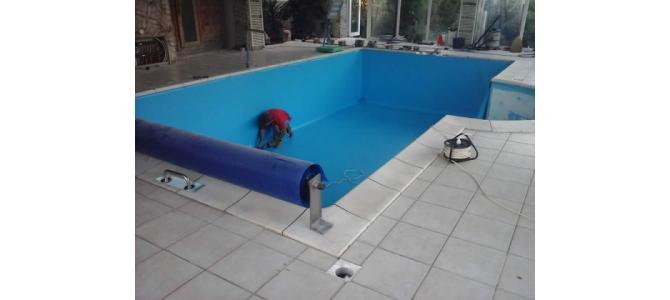 Hidroizola?ii - Placat - Finisat piscina cu membrana Pvc Liner