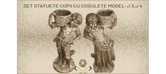 Statuete copii cu cosulete din beton model J3,J4.