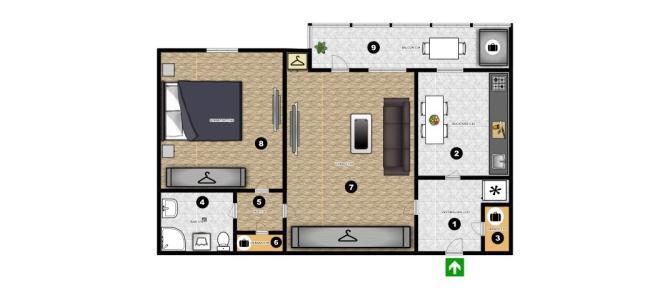 Apartament 2 camere in Bucuresti , 1Mai , sector 1