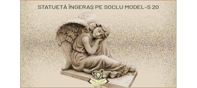 Statueta ingeras adormit din beton model S20.