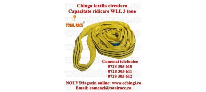 Chinga textila ridicare circulara 3 tone 4 metri
