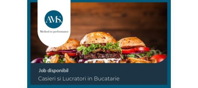 Casieri & Lucratori Bucatarie - lant international fast-food