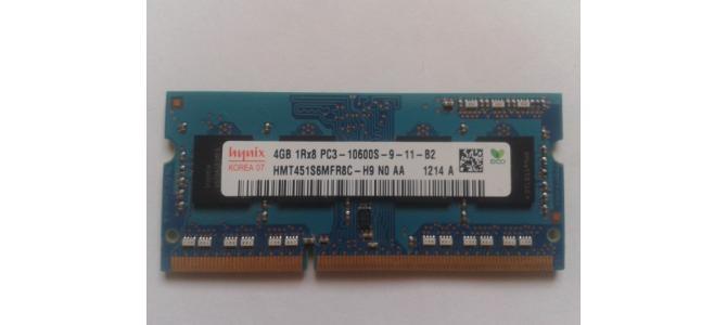 Vand Memorie Laptop Ram Hynix HMT451S6MFR8C 4Gb DDR3 1333Mhz Pret 75 Lei