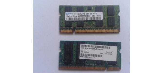 Vand Memorie Laptop Ram Samsung M470T5663EH3 2Gb DDR2 800Mhz Pret 29 Lei