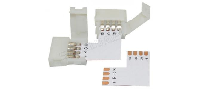 Conector L coltar banda led RGB 5050