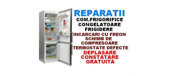 Reparatii frigidere deplasare constatare gratuita