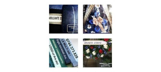 Imprimanta printare mesaj panglici florale, funerare,