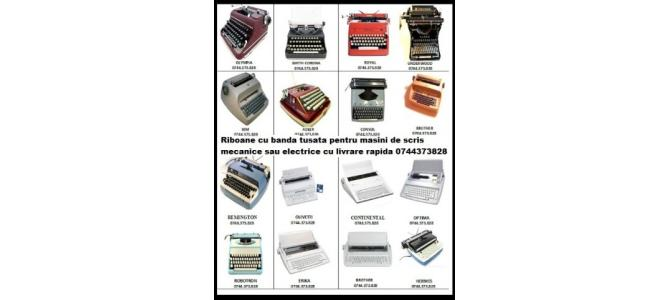 Riboane cu banda tusata pentru masini de scris