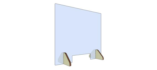 Panou plexiglas protectie casierie