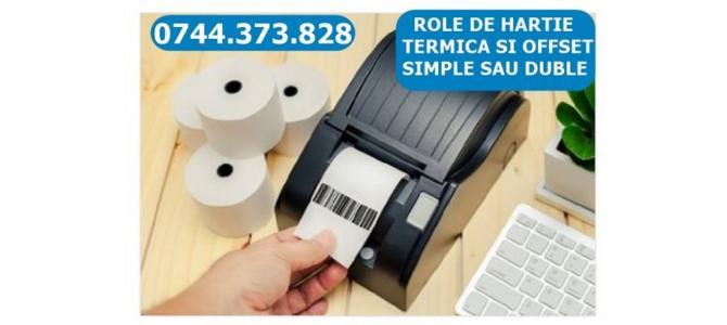 Caseta tusata si rola hartie imprimante bonuri si pos-uri