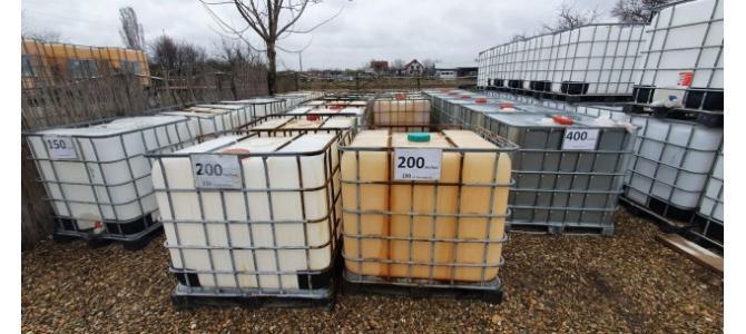 IBC 1000 litri la Oradea avem pe stoc 500buc de la150-350Lei