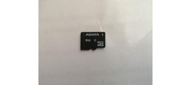 Vand Card de memorie MicroSDHC Adata 8GB Clasa 4 Folosit Pret 20 Lei