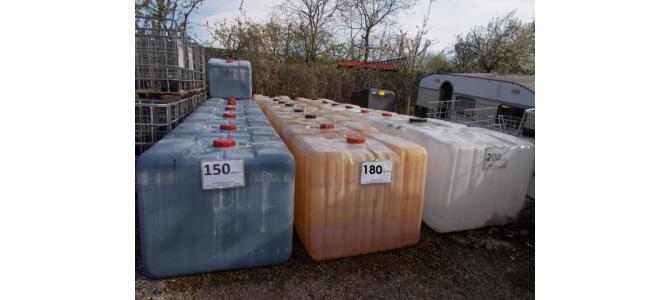 ibc 1000 litri la Oradea la 150Lei, (fara cadru, fara palet)